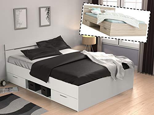 möbelando Kompaktbett Doppelbett Bettgestell Bett Bettrahmen Funktionsbett Lorenzo I