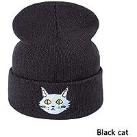 b5ebebfa9d532 HAOLIEQUAN Sombrero De Mujer De Punto Gorros De Invierno Algodón Sólido  Puro Sombreros De Invierno Hombres