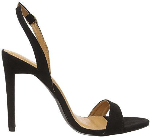 Boohoo Kara Slingback Two Part Sandal, Sandales femme Noir