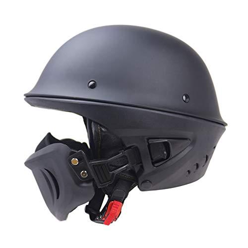 Preisvergleich Produktbild Lsrryd Helm Motorrad Ghost Recon Erwachsene Rogue Cruiser DOT-Zertifizierung Unisex-Erwachsene Half Street (Farbe : Matt Black,  größe : XL 61-62cm)