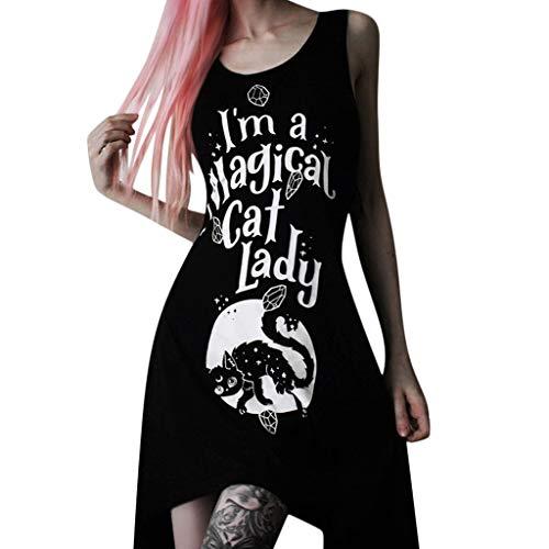 Gothic Kleidung Damen Binggong Kleid Mittelalter Kostüm Punk Karneval Kostüm Frau Cosplay Kurzarm Steampunk Minikleid Sommer Schnürung Rückenfrei Kapuzen Party Vintage Kleid T-Shirtkleid Tank Top