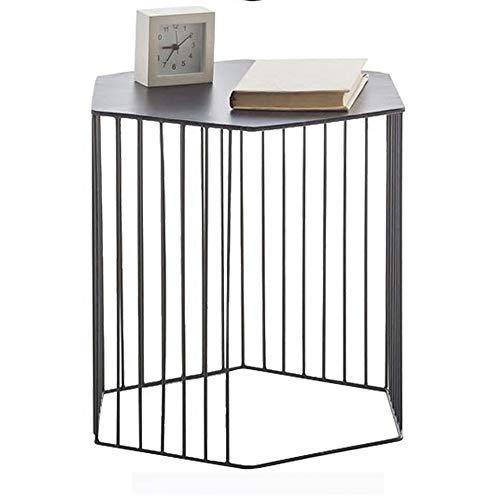 DEO Table de nuit décorative pour table de nuit avec table d'appoint pour table de nuit, salon, patio, balcon, noir (Couleur : NOIR)