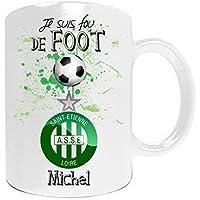 Mug de foot ASSE à personnaliser avec votre prénom - Cadeau personnalisé foot ligue1 Saint Etienne - Cadeau personalisé fête des pères, anniversaire, Noël