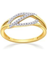 Malabar Gold And Diamonds 18KT Yellow Gold And Diamond Ring For Women - B07B5659DP