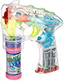 WP Toyz Bubble Shooter Gun with Sounds and Music – 2 Bubble Solution