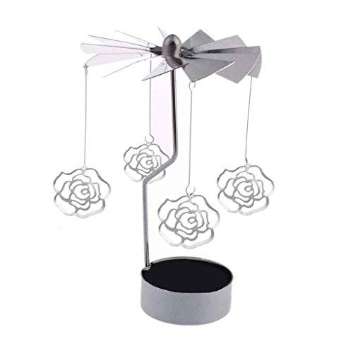Morza Rotary Spinning Teelicht Kerzenhalter Weihnachten Home Decor Metall Kerzenständer Kerzenständer