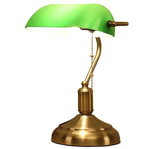 Retro Drehtisch Licht, Studie/Schreibtisch/Arbeit/Schlafzimmer Schreibtischlampe, Leselicht, Dual Control Switch/keine Strobe/Augenschutz/Green Dual Strobe