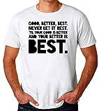Photo de Brenos Design Good Better Best Never Let it Rest St. Jerome Inspiration Motivation Quote T-Shirt pour Hommes par Brenos Design