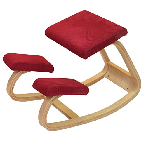 Vogvigo sedia ergonomica professionale, progettata per stretch back curves e aches relieve balance enhance, office / computer / game / home sedie da giardino sgabello -330 lbs (rosso)