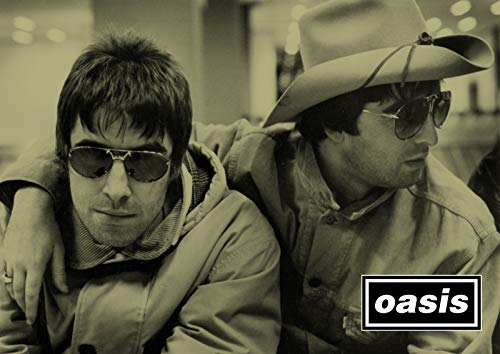 Noel and Liam Gallagaher Large A3 Poster Print