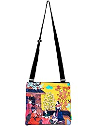 Eco Corner Indian Art Balcony Cotton Sling Bag