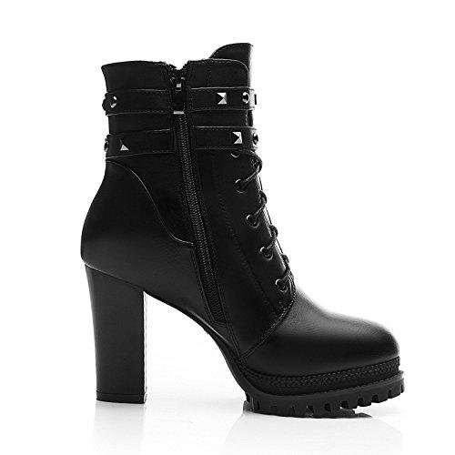 KHSKX-9Cm Rivet Talon De Chaussures Bottes De Cycle Court Cycle Rivets Des Chaussures Pour Femmes Thirty-four