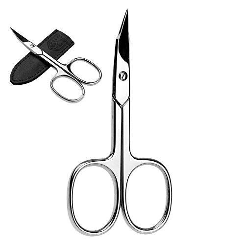 Turmspitz Nagelschere in Leder Etui - Premium Nageschere ideal für unterwegs zur Maniküre, Pediküre und Nagel-Pflege für Mann und Frau