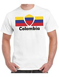 2Store24 Copa del Mundo 2018 Camiseta Hombres Copa del Mundo Fútbol Bandera Todos los Países participantes
