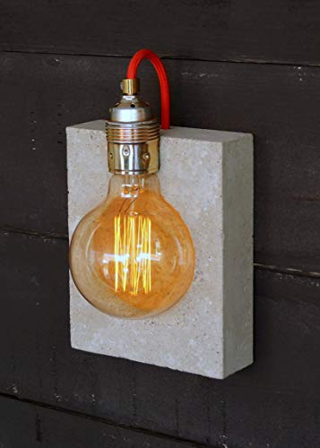 Wandlampe'alba' aus Beton (incl. Leuchtmittel)