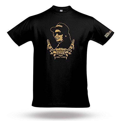 """Eazy E """"in memoriam"""" Designer Gedenk T-Shirt Wizuals Größe XXXL schwarz"""
