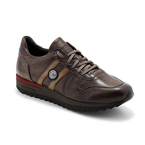 Sneaker Uomo Bassa Enna Marrone 555 - Exton, 43