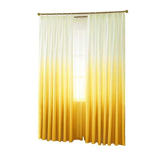 Gmgqsago tende per cameretta tende oscuranti elegante tenda finestra porta mantovana drappo divisore paralume in camera da letto home room decor–giallo yellow