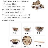 QPGGP-Plato de comida Juego de vajilla China de cerámica Creativa,B