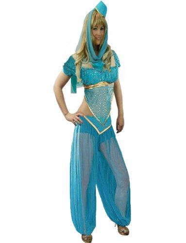 Yummy Bee - Arabische Prinzessin Bauchtänzerin Bollywood Karneval Fasching Kostüm Damen Größe 34 - 46 (38) (Disney Prinzessin Jasmin Kostüm Für Erwachsene)