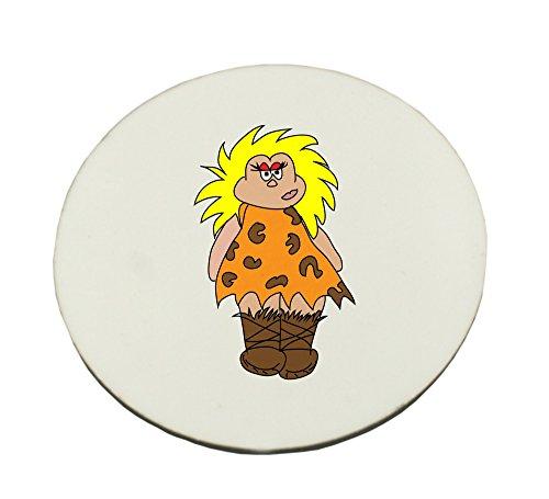 Circle Mousepad with cavewoman