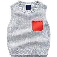 ZJEXJJ Chaleco de algodón de los niños Primavera y otoño Regalo de cumpleaños del bebé (Color : Gris Claro, Tamaño : 90cm)