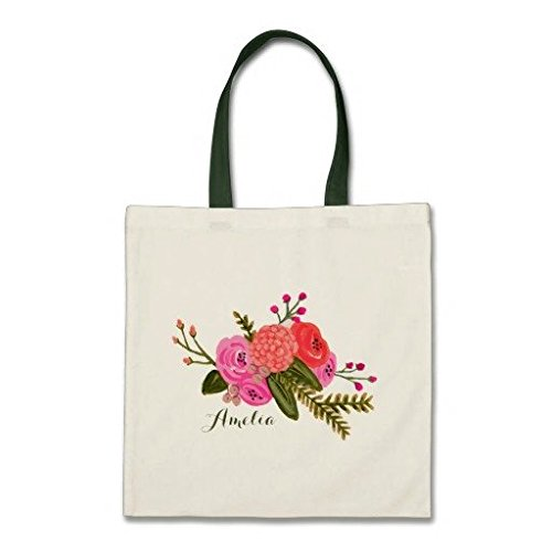 Custom Vintage Garden Budget Baumwolle Canvas Tote Bag (Tote Reversible Canvas)