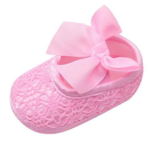 Beikoard Babyschuhe Neugeborene Schuhe Baby Mädchen weiche Schuhe weichbesohlte Rutschfeste Bowknot Schuhe Krippe Schuhe Kleinkindschuhe