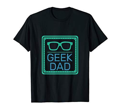 Aussenseiter-Vati mit Brille-lustigem Geeky Vatertags T-Shirt