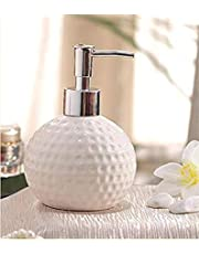 TOTO DEALS Dots Carved Ceramic Liquid Soap Dispenser, White, Standard Size