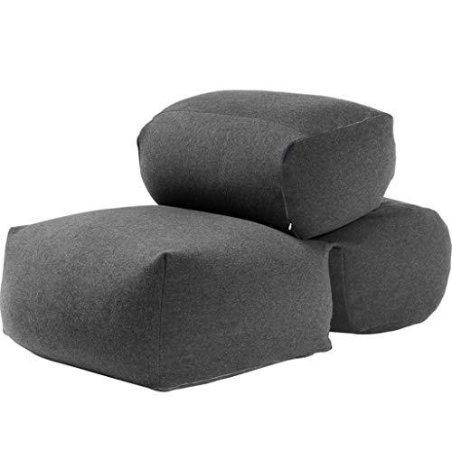 LBYMYB Doppel-Sitzsack Sofastuhl, einfach und vielseitig, fügen Sie eine Bequeme Couch hinzu, Wohnzimmer Freizeit faules Sofa (Color : Gray)