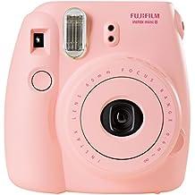 Fujifilm Instax Mini 8 - Cámara analógica instantánea (flash, velocidad de obturación fija de 1/60 s), color rosa