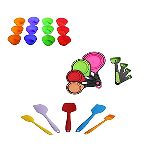 25 Pc Heat Resistant Silicone Kitchen Baking Set by Kurtzy