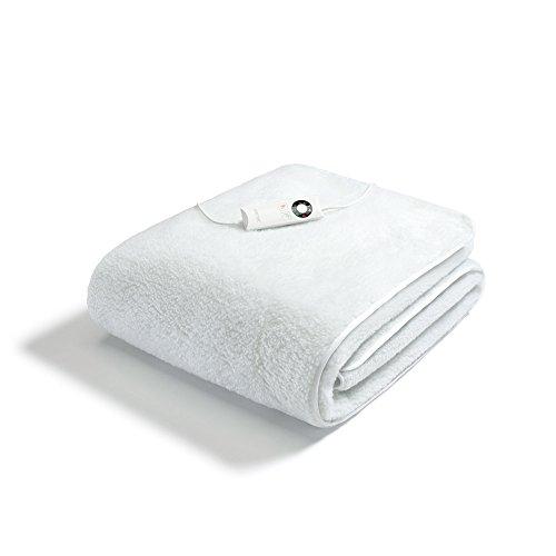 Imetec 16175 scaldasonno sensitive singolo, tessuto morbido peluche, coprimaterasso maxi 190 x 90 cm, 6 temperature, risparmio energetico, lavabile in lavatrice