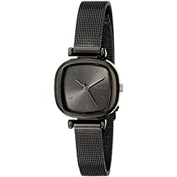 Komono Women's Quartz Watch with Black Dial Analogue Display and Black Bracelet KOM-W1243