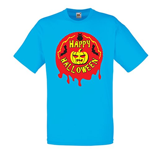 y Halloween! - Party Clothes - Pumpkins, Owls, Bats (XX-Large Blau Mehrfarben) ()