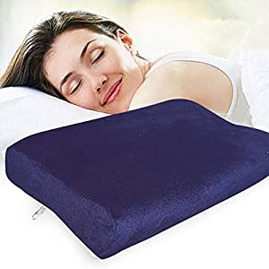 """Zofey Memory Foam Cervical Medical Pillow for Sleeping Orthopedic Pillows for Neck Back Pain (20""""X12""""X3"""") White Color (White)"""