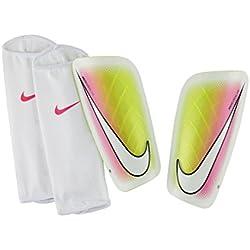 Nike Mercurial Lite - Espinilleras, color blanco, talla XL