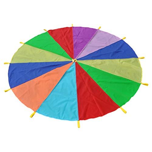 Toyvian Paracaídas Colores Juego De Paracaídas de Color para Niños Arco Iris...
