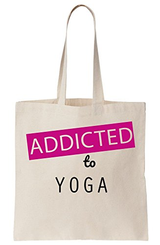 Yoga-tote Namaste (Addicted To Yoga Canvas Tote Bag)