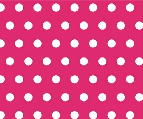 SheetWorld Fitted Square Playard Sheet 37.5 x 37.5 (Fits Joovy) - Polka Dots Hot Pink - Made In USA  available at amazon for Rs.2740