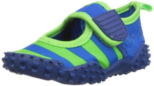 Playshoes Aquaschuhe, Badeschuhe Streifen mit höchstem UV-Schutz nach Standard 801 174795, Mädchen Aqua Schuhe, Blau (blau/grün 791), EU 20/21