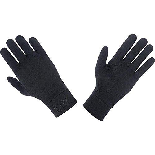 GORE BIKE Wear Herren Unterzieh-Fahrradhandschuhe, GORE Selected Fabrics, UNIVERSAL Merino Undergloves, Größe 9, Schwarz, GUNIME