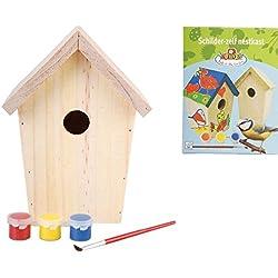 Esschert Design KG145 - Caja nido para pájaros (madera, para pintar)