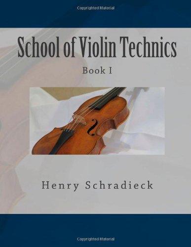 School of Violin Technics: Book I