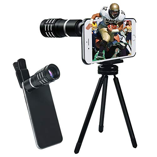Evershop Handy Kamera Zoom 10 X für iPhone -[Support 1500M] Handy Kameraobjektiv Manuelle Fokus Teleobjektiv für iPhone 8/ 8Plus/ 7/7Plus/6 Plus 6S Plus/ 6 6S/5 5S (5s Iphone Kamera Linse)