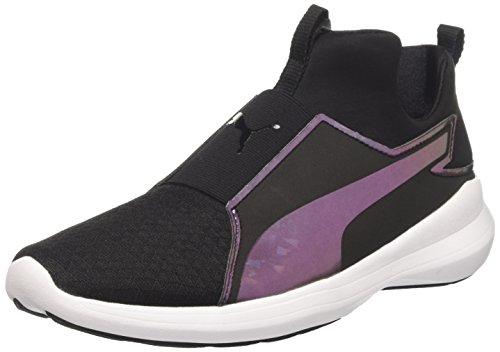 Puma Damen Rebel Mid Wns Swan Sneakers Schwarz (puma black-puma black 01)
