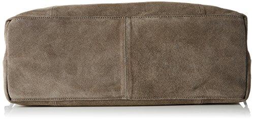 Pieces Pclady Suede Bag, Sacs portés épaule Brun (Elephant Skin)