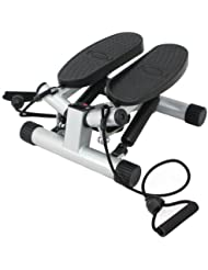 Sunny Health & Fitness Twisting Stair Stepper with Band, Silver by Sunny Health & Fitness