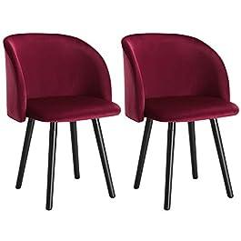 WOLTU BH120hgr-2 Chaise de Salle à Manger Chaise de Cuisine Rembourrée Assise en Lin, Gris Clair